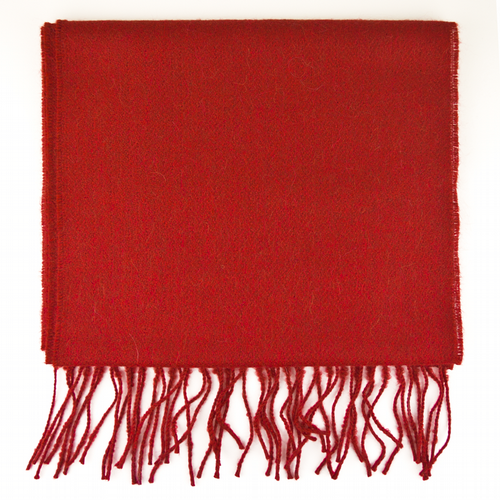 Baby Alpaca Scarf - Red